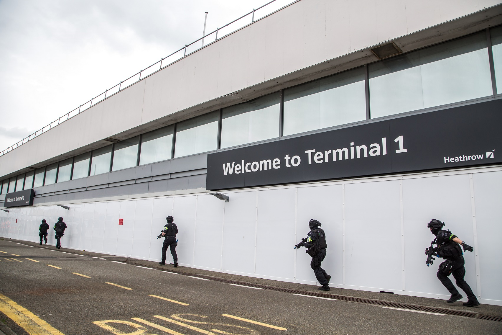 Terminal 1 terror exercise at Heathrow