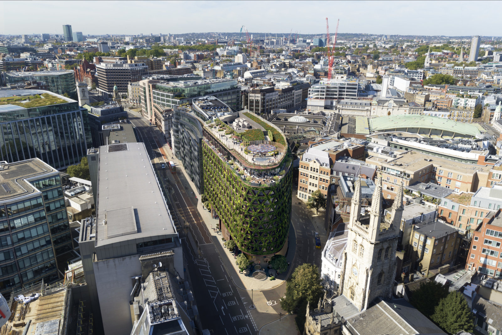 London Cityscape as it will look featuring new living wall