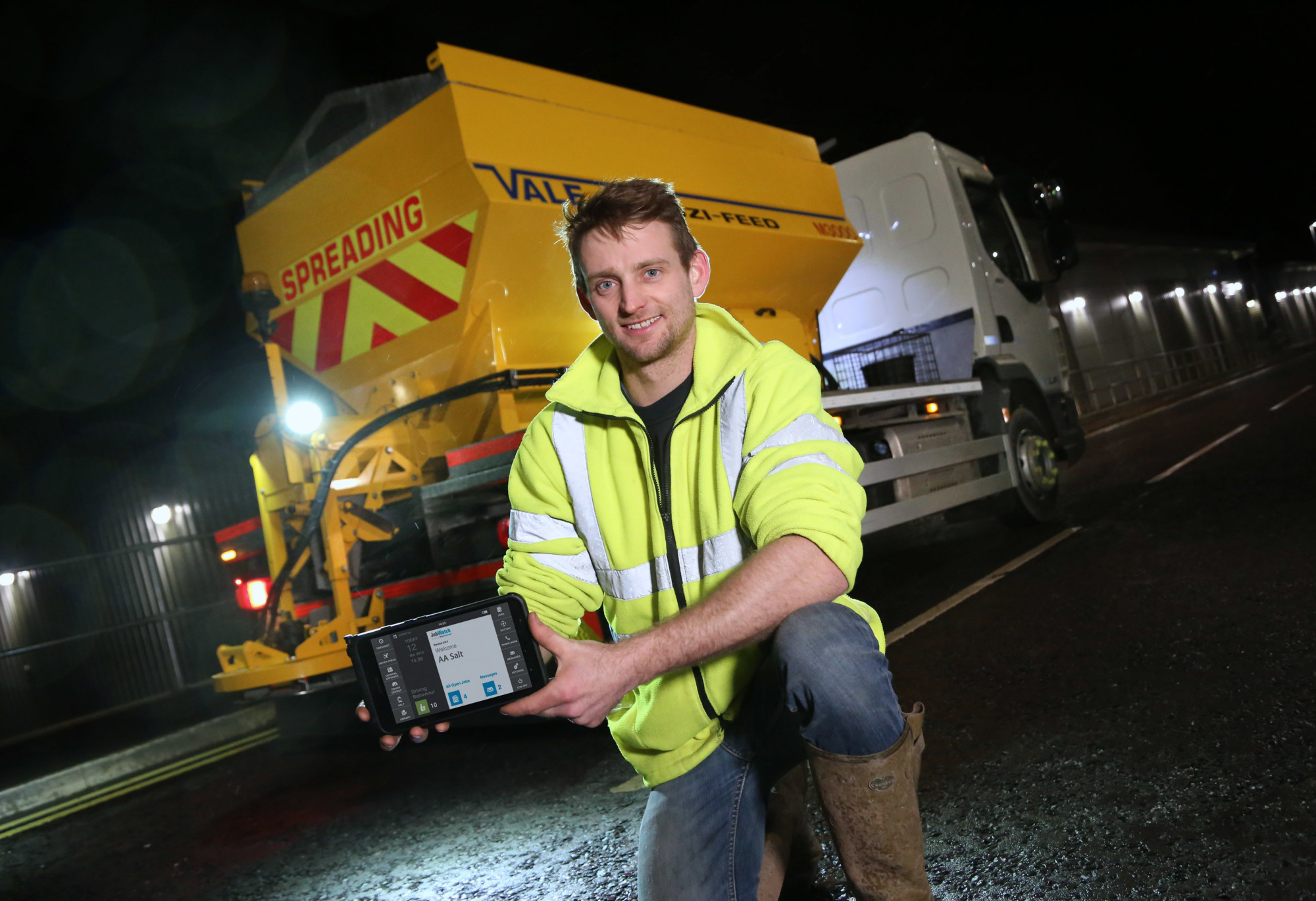 AA Salt gritting services has doubled the productivity of its operators with the introduction of the BigChange workforce management system.