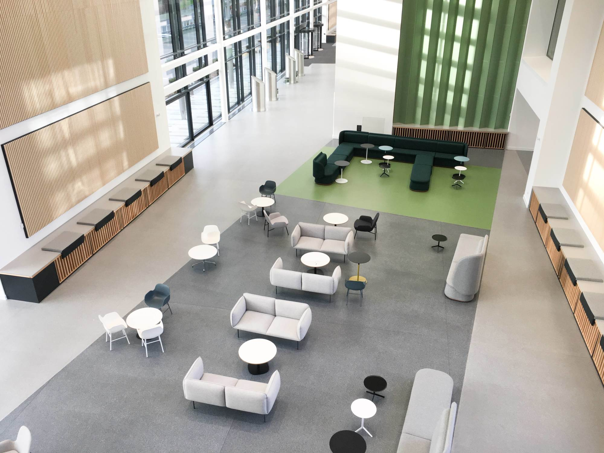 A Flowcrete resin floor at the University of the West of Scotland's new £110 million Lanarkshire campus.