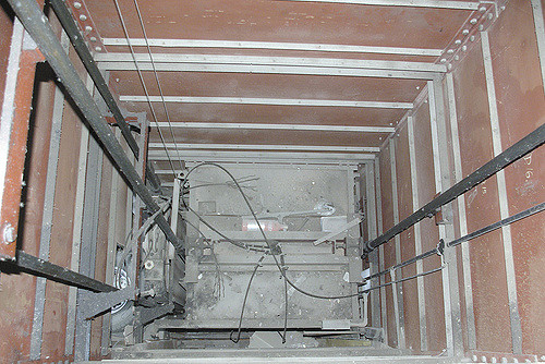 A typical lift shaft