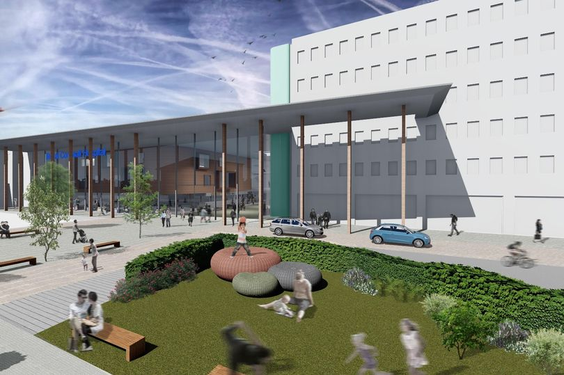 An artist's impression of the development at the Royal Cornwall Hospitals Trust site in Truro.