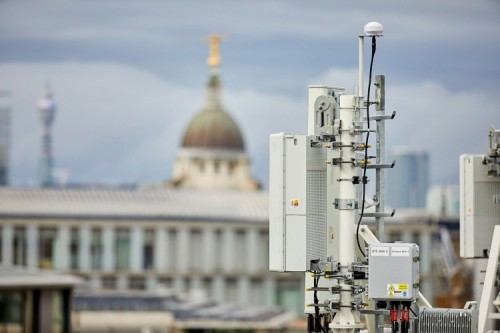 An EE mast at St Pauls - Nick Dutfield reckons MTI is better than 4G and will give 5G a run for its money