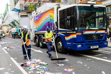 Veolia switched some of their usual street cleansing equipment for Pride