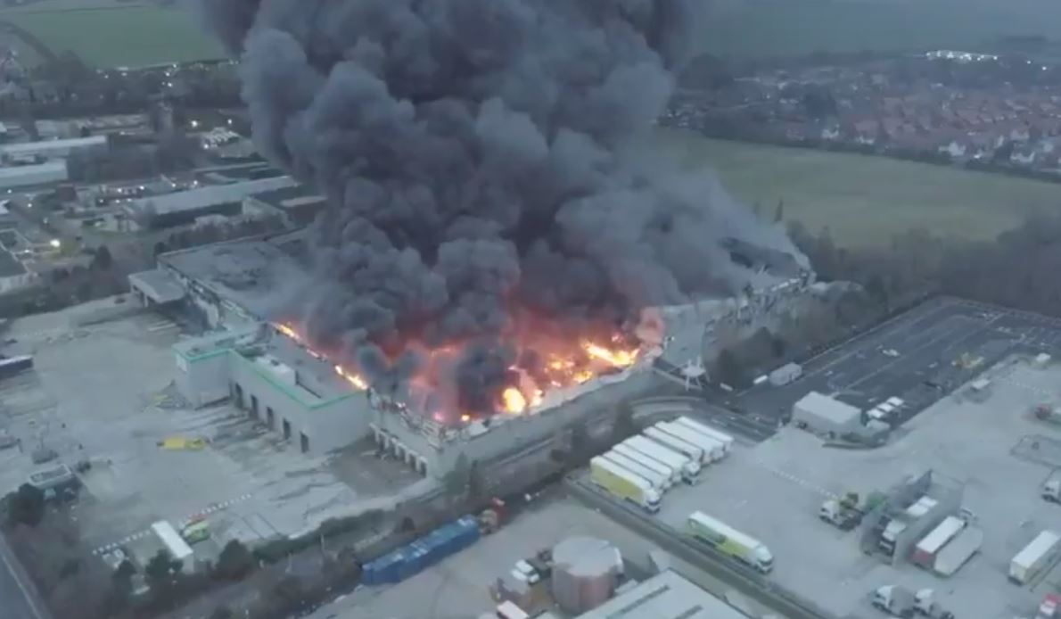Deliverance - a major fire at Ocasdo's robot operated Andover warehouse saw no injuries...apart to the online grocer's share price which fell six per cent on the news