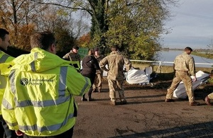 EA teams out on the ground in South Yorkshire alongside army personnel