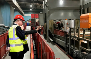 Environment Secretary Michael Gove visited Veolia's centre in Southwark to launch the Resources and Waste Strategy