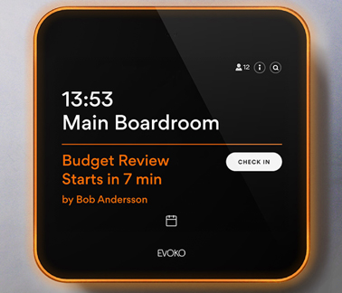 Evoko's Liso room booking system