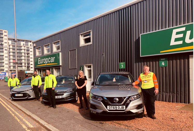 Europcar Provides Emergency Vehicles To LifeSavers Scotland Charity