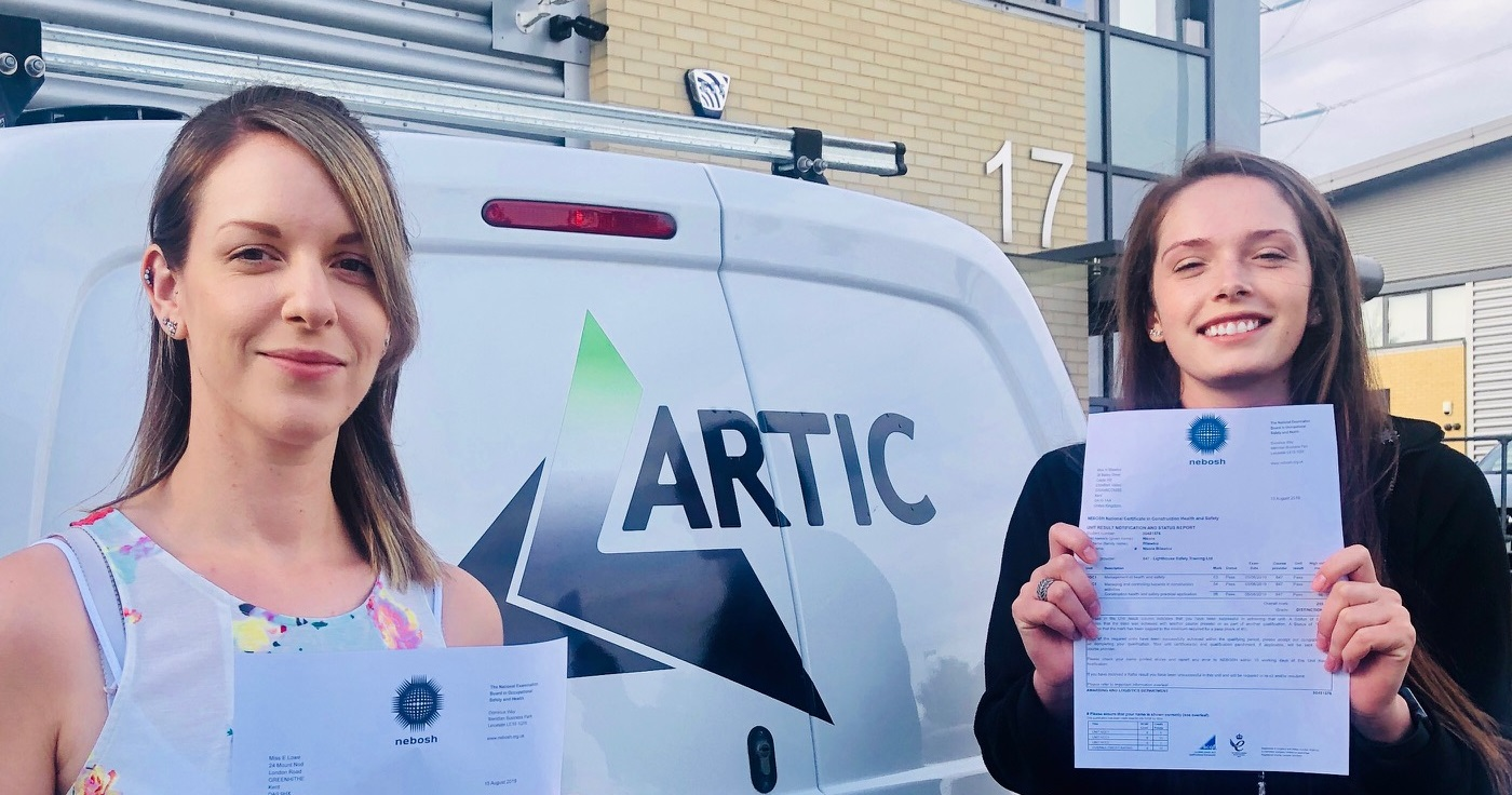 Lizzie Lowe and Nicola Bilewicz of Artic Building Services.