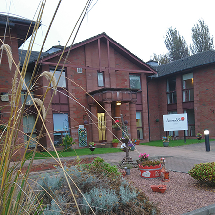 HC-ONE's Lomond Court care home where a patient died after chewing chlorine tablets