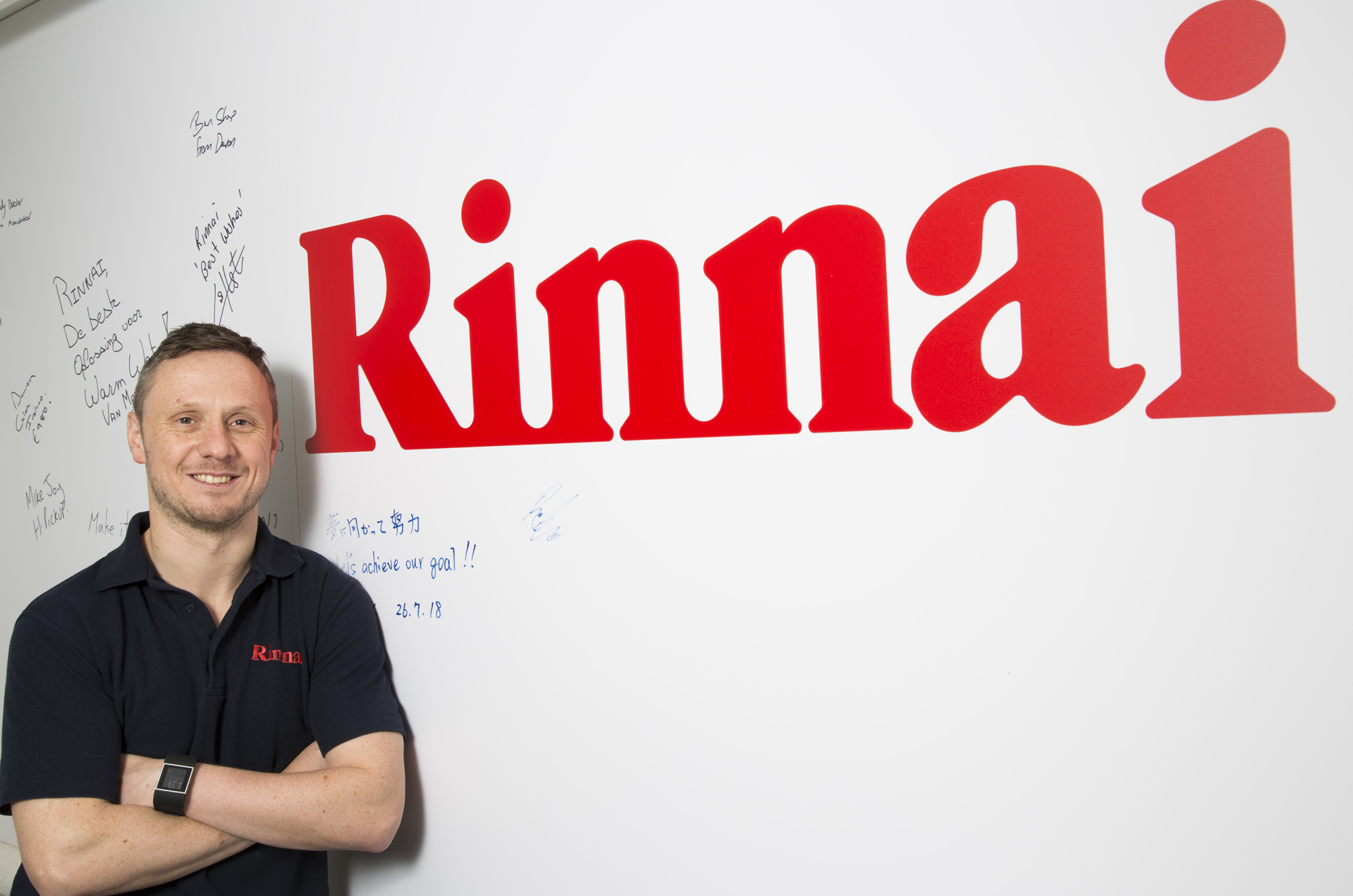 One of the Rinnai training team