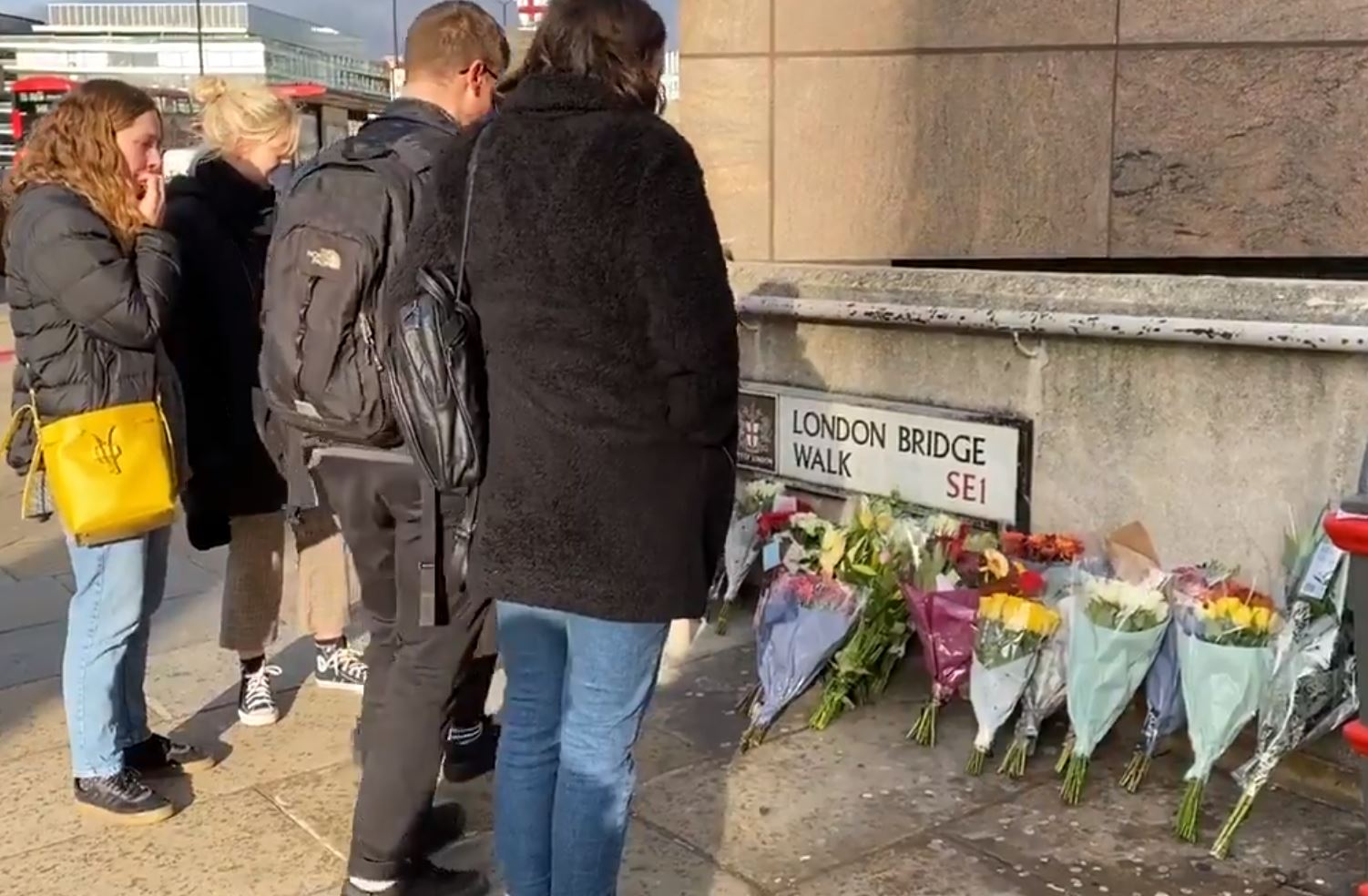 People have already laid flowers as near to the London Bridge attack site as is possible at this time