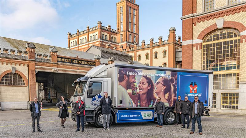 Carlsberg Takes Delivery of Electric Truck Fleet from Renault