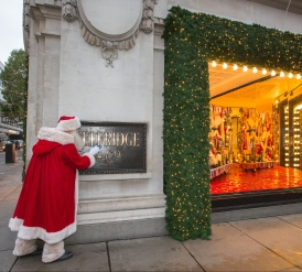 Selfridges is traditionally the first store in the world to reveal its Christmas window displays