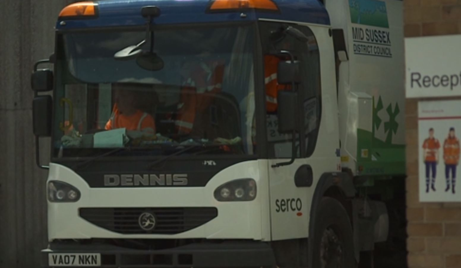 Serco Refuse collection lorry