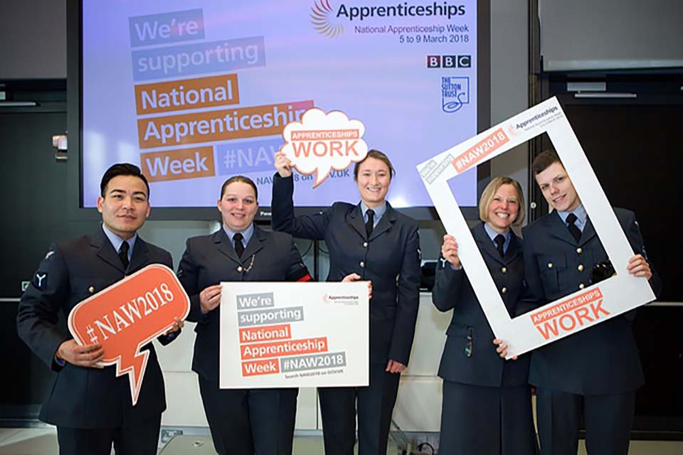 Showing support for National Apprenticeship Week or NAW 2018 as the dates for 2019 are set at 4-8 March