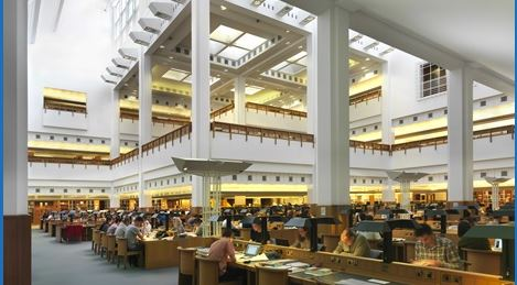 The reading room at the British Library