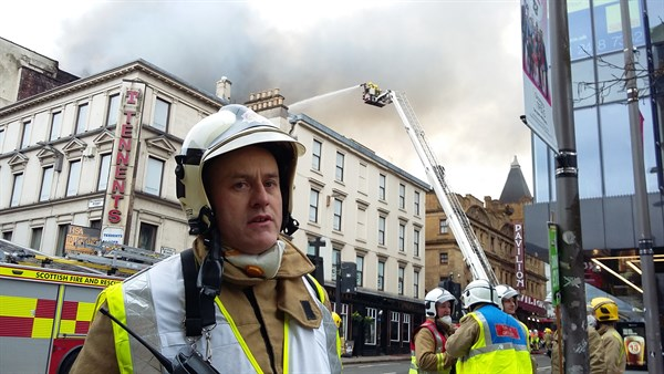 The fire in Sauchiehall Street