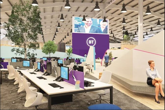 The first eight locations have been name in BT's workplace improvement programme