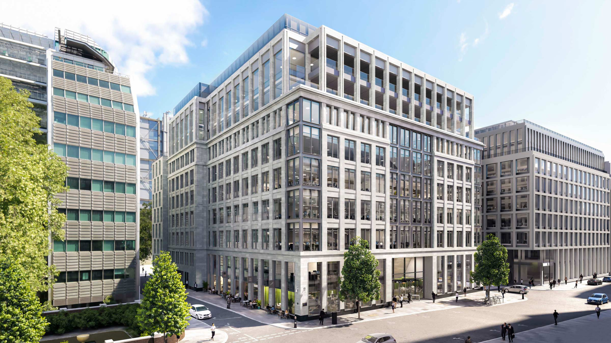The thoroughly refurbished Gresham Street offices in the City of London.