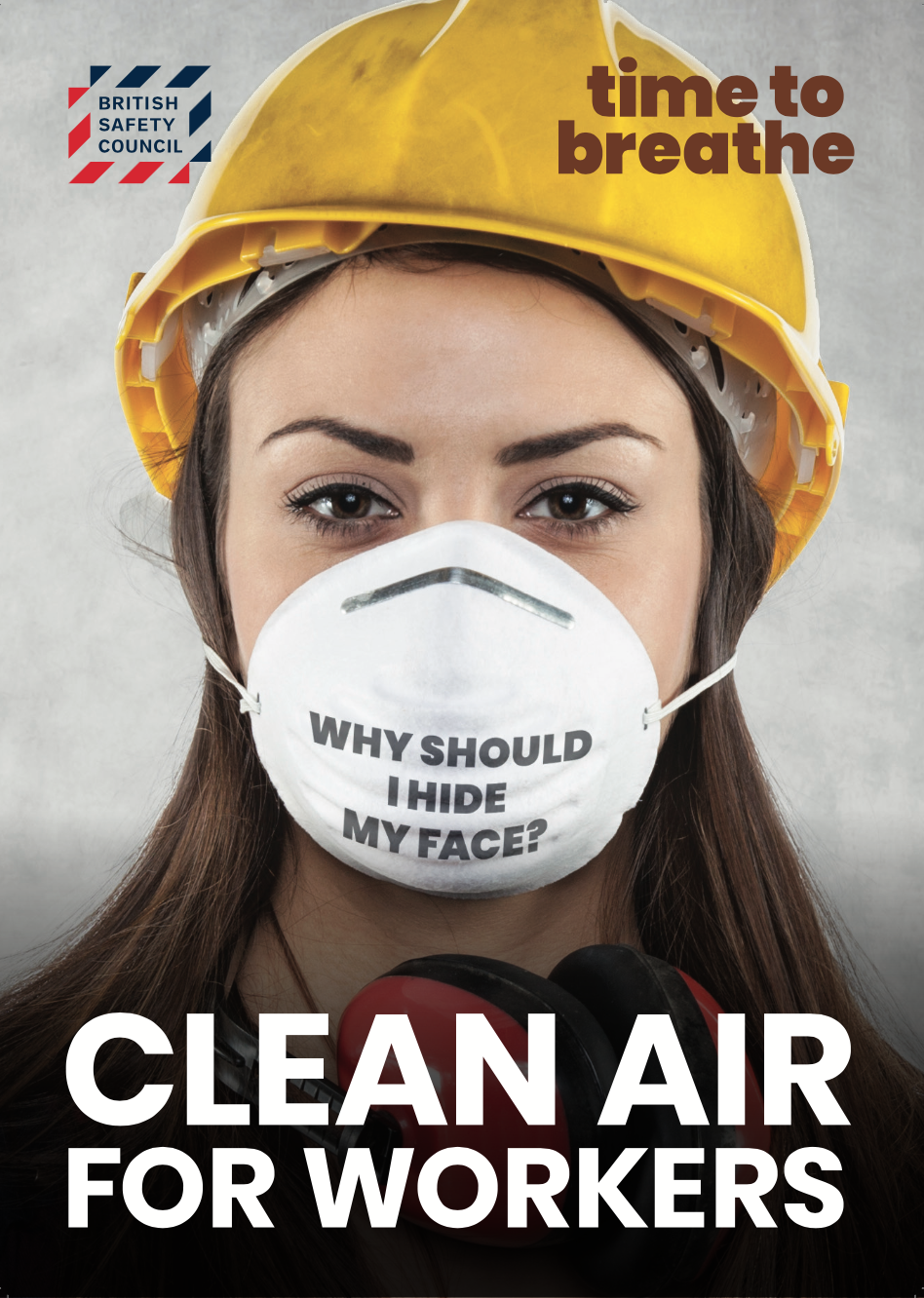 The British Safety Council's Time to Breathe campaign poster.