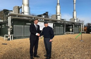 Tobias Ellwood opens the new biogas facility which will power RAF Marham.