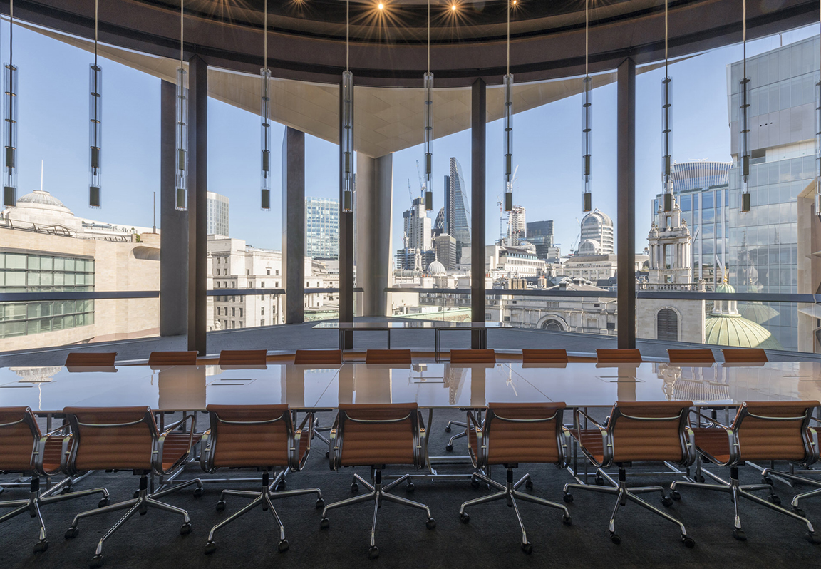 View of the City skyline from the Walbrook Dining Room