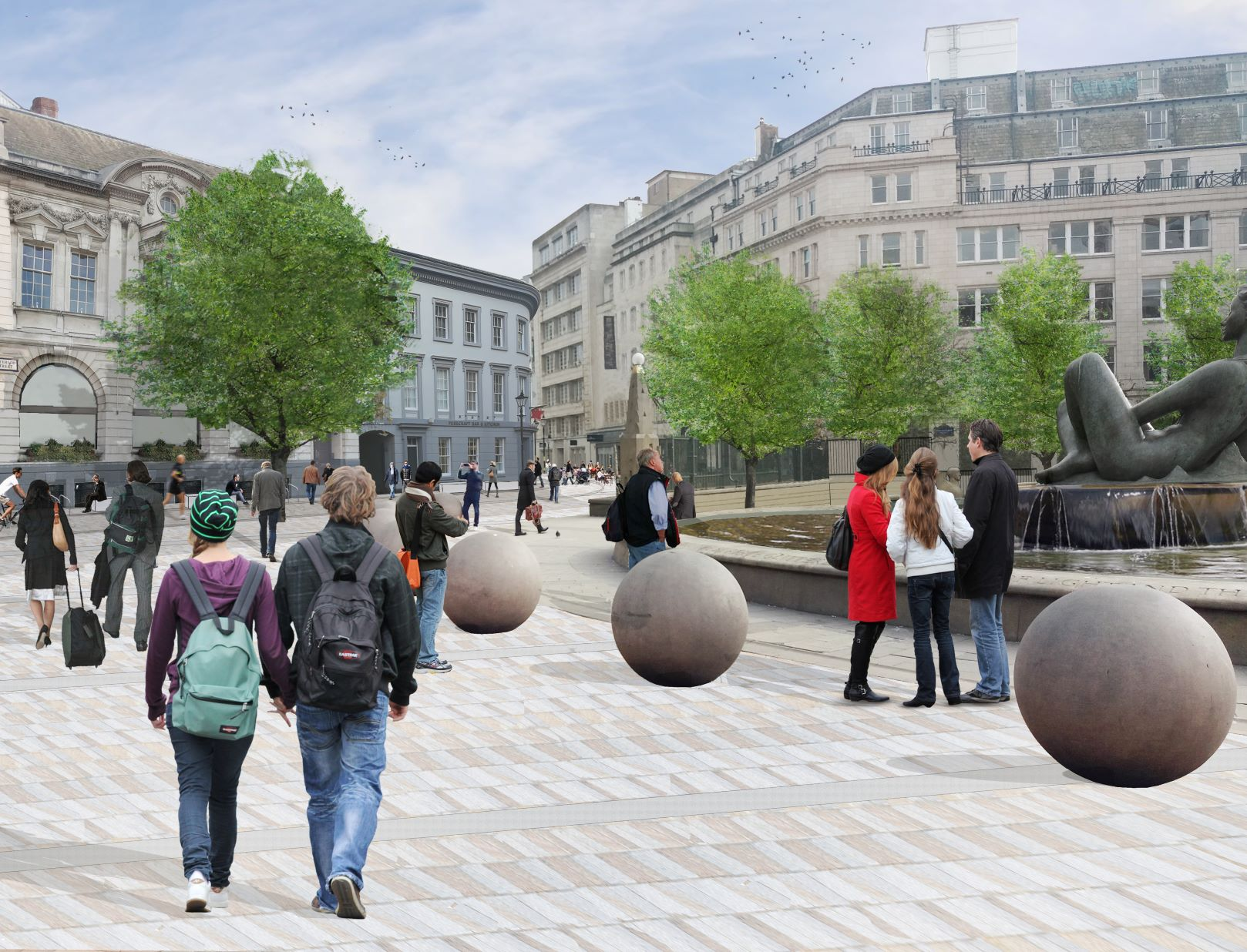 A computer generated image of what Victoria Square could look like after consultation.